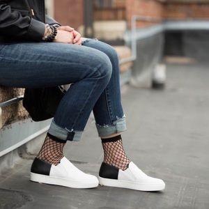 FREE PEOPLE | NEW White Varsity Slip On Sneakers
